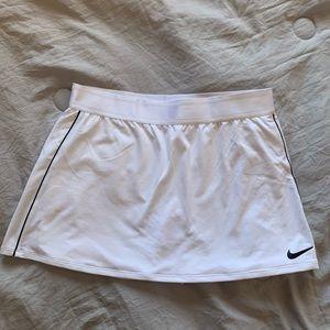 White tennis skirt